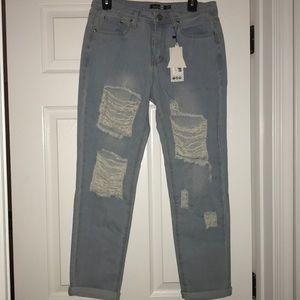 Boohoo Ripped Boyfriend Jeans